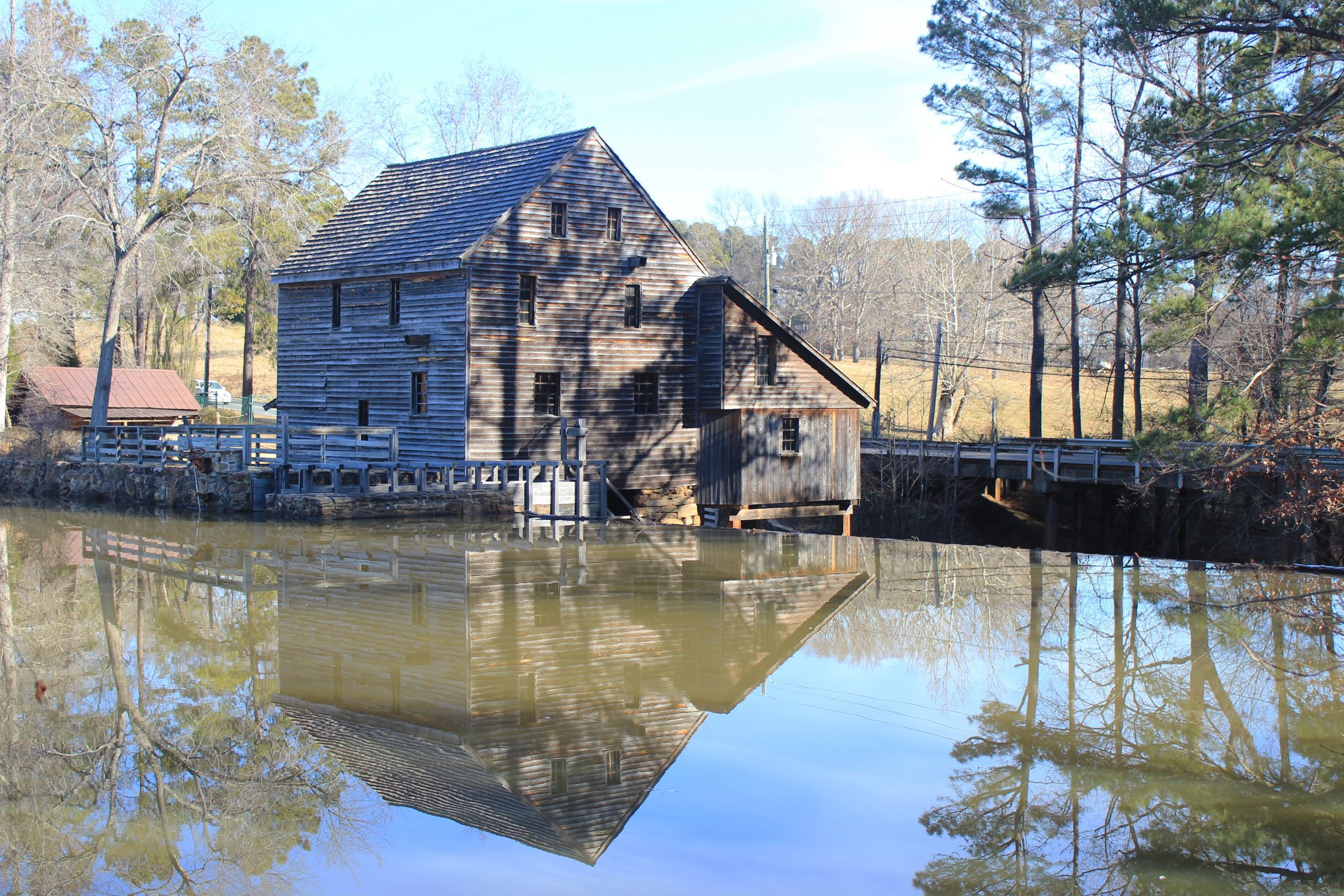 Mill and reflection